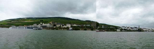 Cruise ship moored at Rudesheim