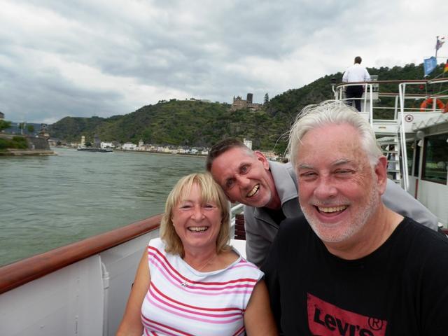 Christine & Andy with Stuart photo-bombing!