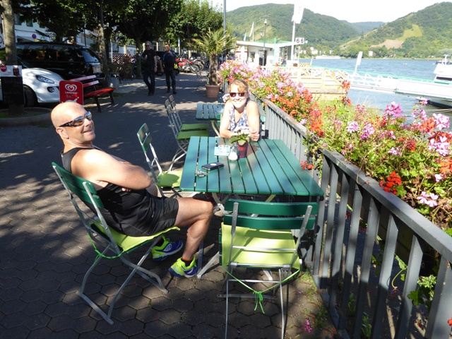 John & Anne chill-out for the day
