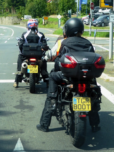 Backmarkers Vic & Jackie on their Tiger 800