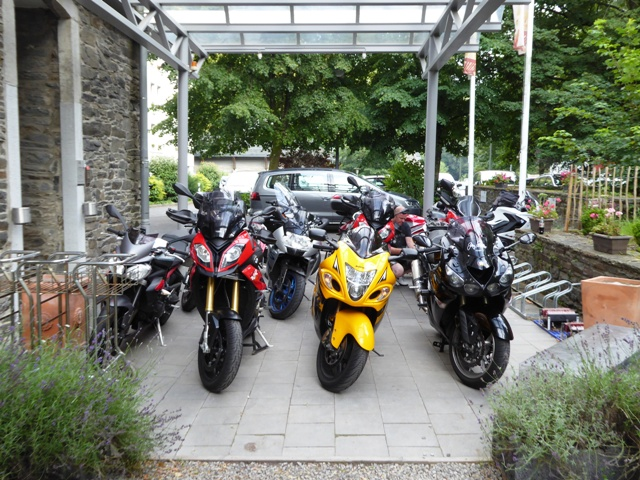Bikes outside our final hotel
