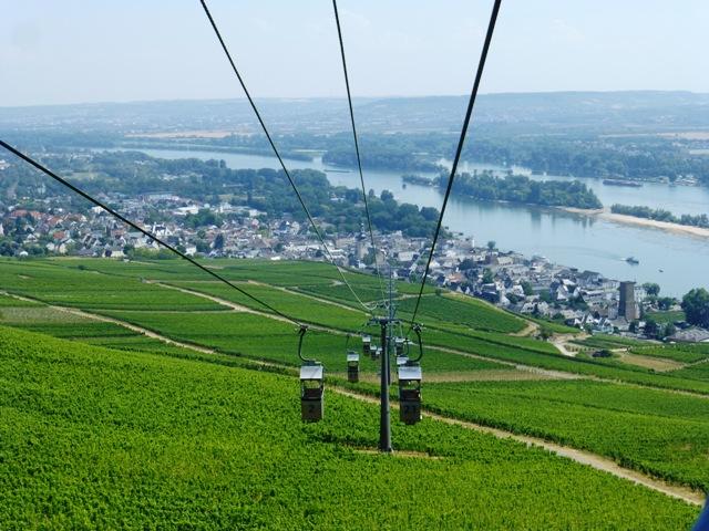 Take the ski lift over the vineyards