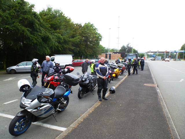 We always regroup before & after any motorway