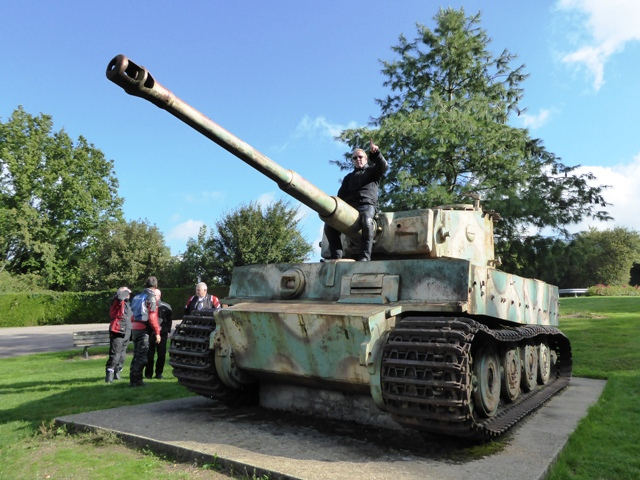 Our first stop - a Tiger Tank !