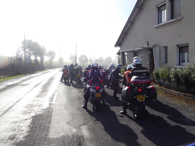 We regroup after a foggy section