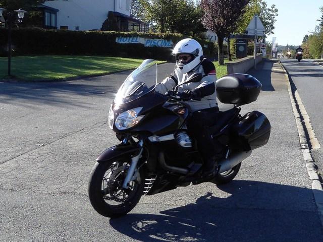 Robert on his Moto Guzzi Norge