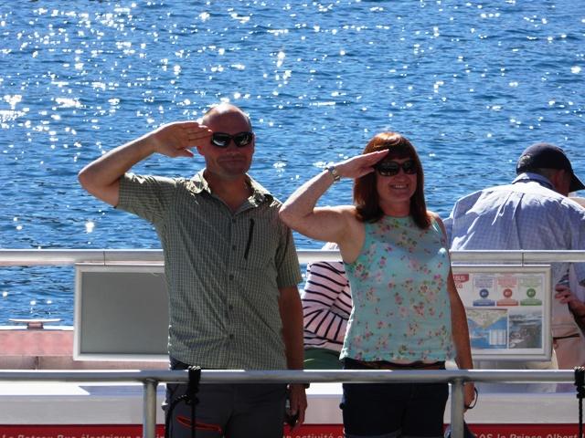 Ian & Heather take the Bateau Bus