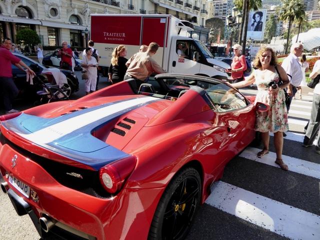 Ros admires her next car !!