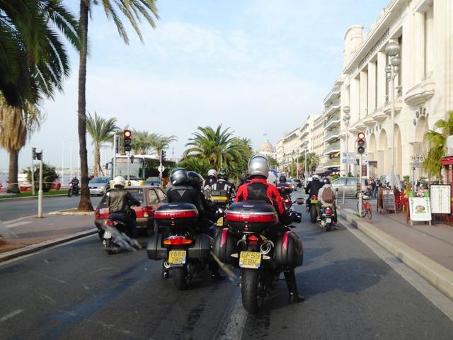 We ride through Nice