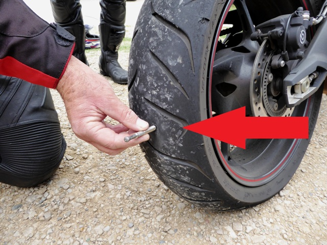John gets a puncture - a huge fixing !