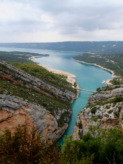 The fab lake at the end of the Gorges