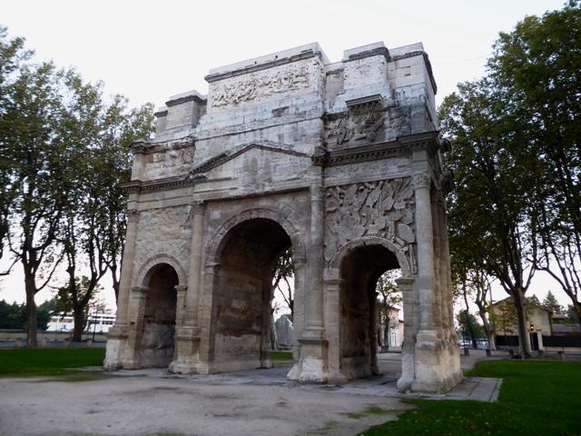 Our hotel is next to the original Arc de Triomphe