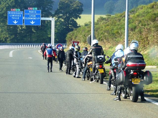 We always regroup before any motorway