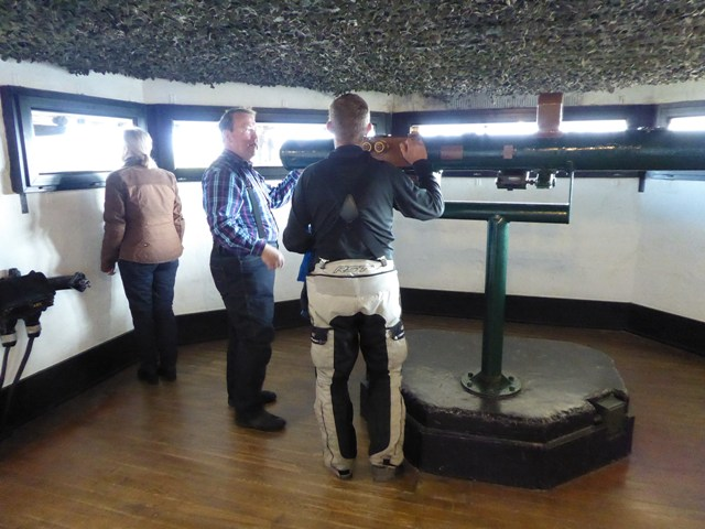 Kevin tries the range-finder