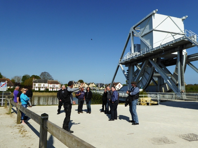 John outlines the glider landings at Pegasus Bridge
