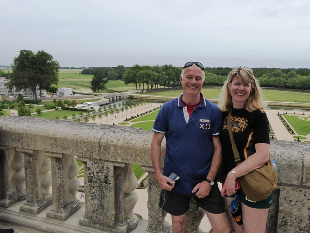 Adrian & Clare on the ramparts