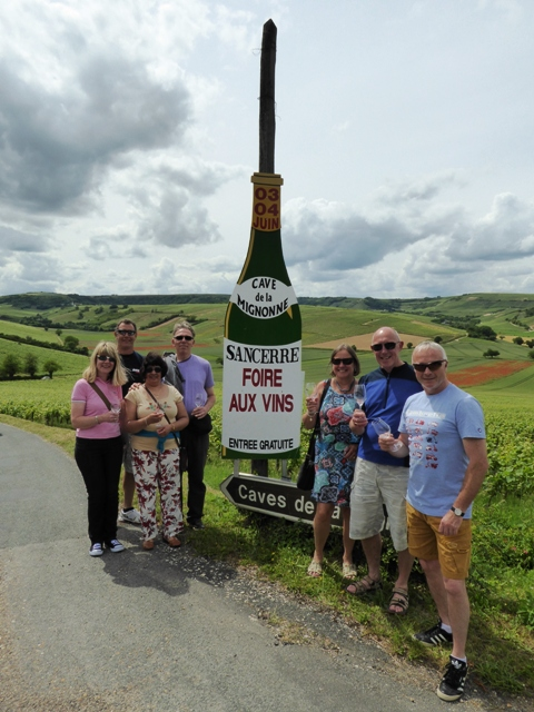 We then spend the afternoon at the Sancerre Wine Festival