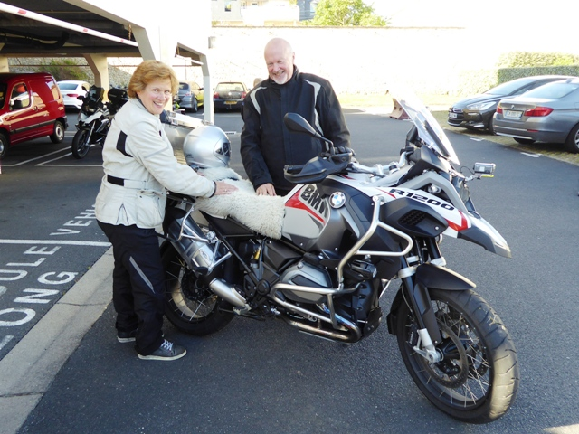Rod & Jackie with their luxury seat cover!
