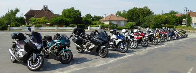 Bikes lined up at Rocamadour