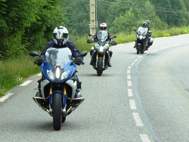 Catt on her BMW R1200RS