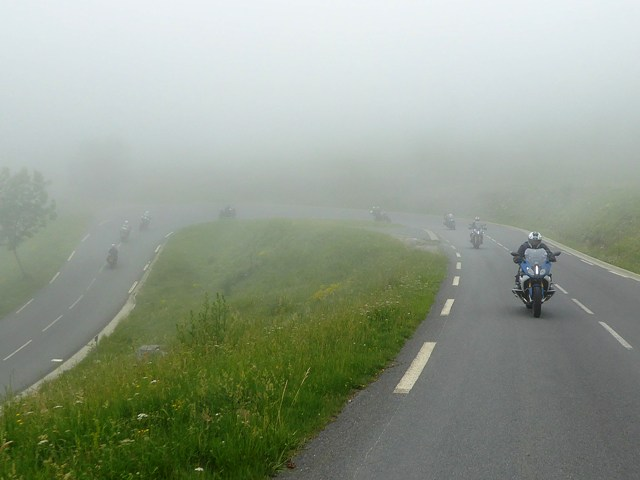 Misty as we continue to climb