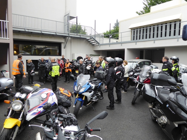 Morning briefing in secure parking
