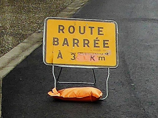 Road closed - with no advance warning!!