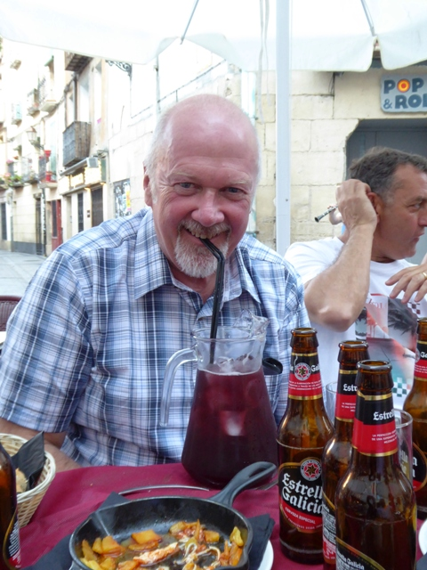 Rod enjoys some Sangria