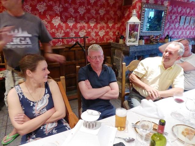 The fun starts - Phil isn't impressed!