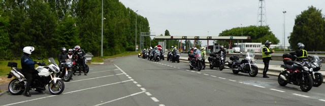 We always re-group before & after any stretch of motorway