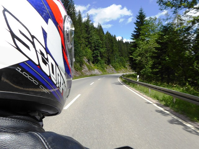 Ride some fabulous roads - Jen riding pillion