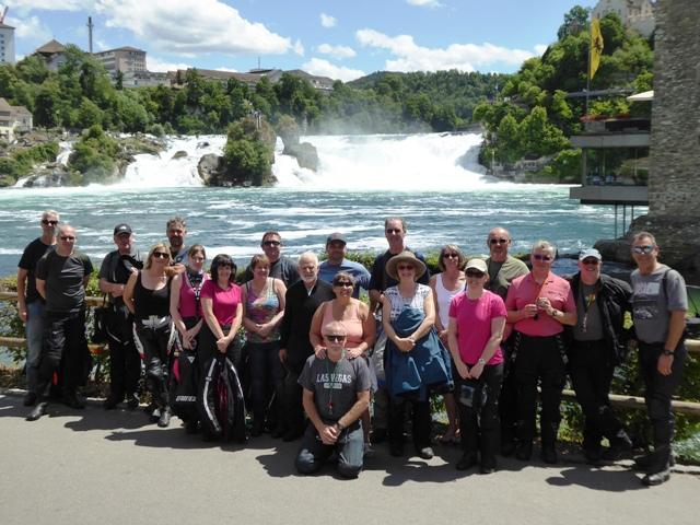 The group at the waterfalls