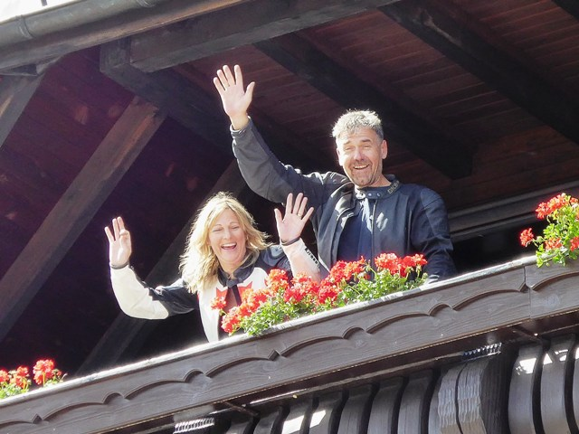 Garry & Jo on their balcony