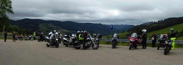 We stop at a viewing point as we leave the Black Forest