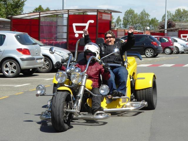 Di has a go driving the Trike!