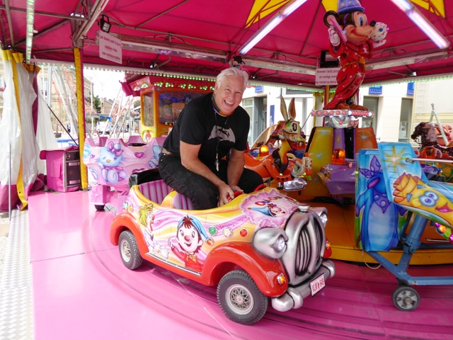 Andy on a fairground ride!