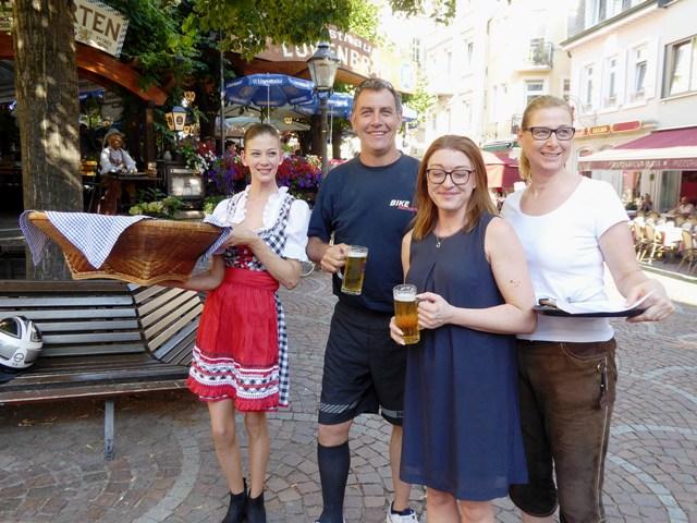 John with the hotel waitresses
