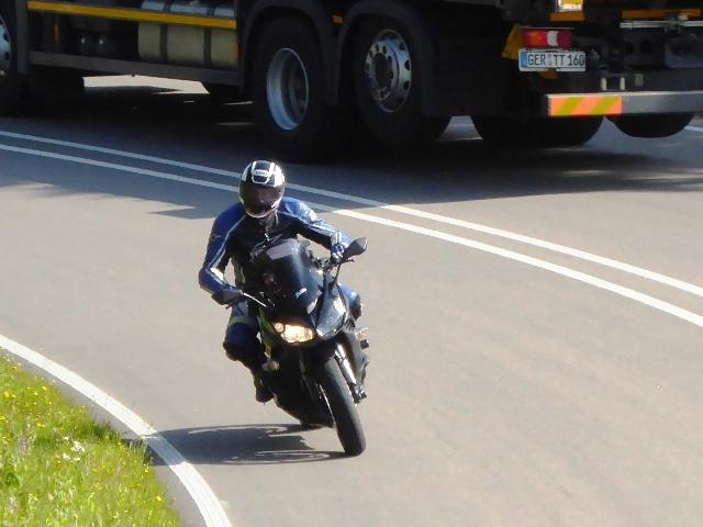 Greg on his Kawasaki Z1000SX