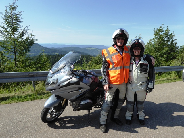 """Bob & Jozina ride as our """"back-markers"""" during the tour"""