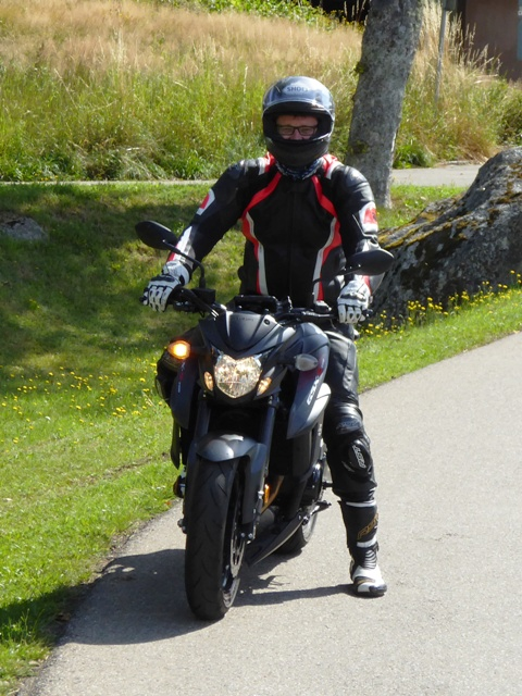 Pete on his GSXS 750