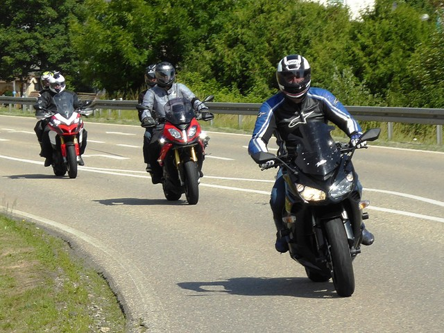 Greg leading on his Z1000SX
