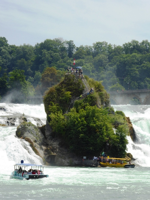 Take a boat ride to the falls
