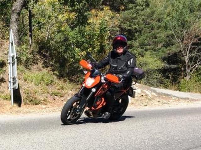 Paul on his KTM 690 Duke