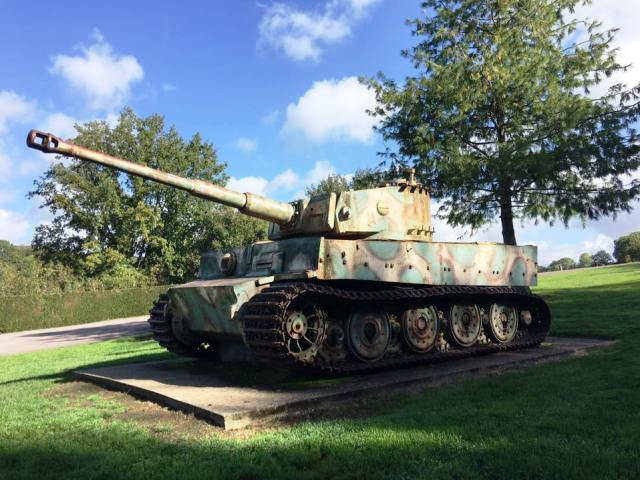 We stop to see a Tiger Tank