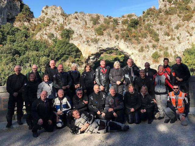A great end to the season - the group in the Gorges de l'Ardeche - fab weather, fab scenery, brilliant roads & a fun group made for a super tour