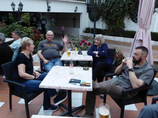 Sam & Stuart with Chris & Debs
