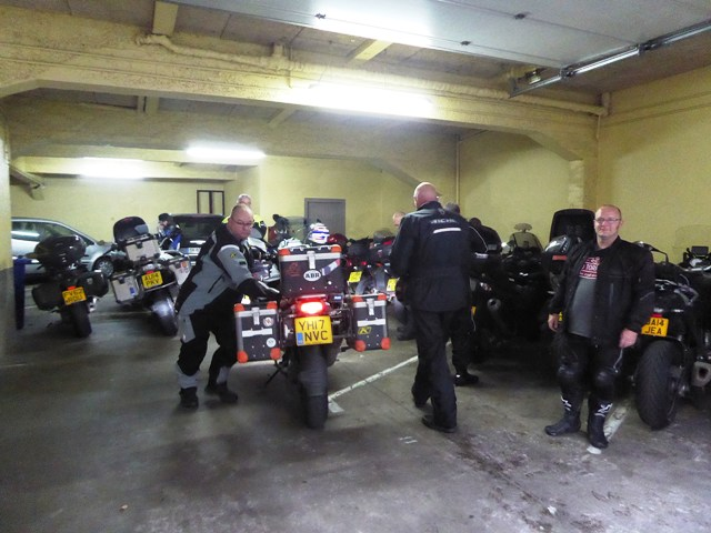 The hotel has secure garage parking