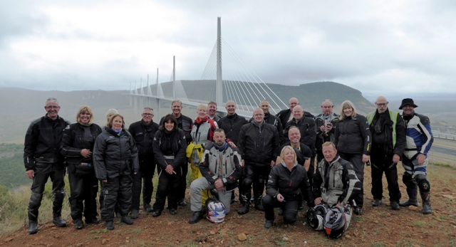 The next day we stop at the Millau Bridge