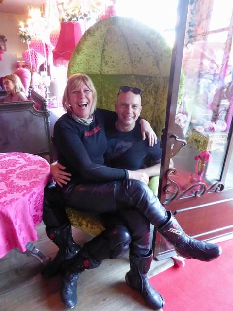 Shirley & Matt in the big chair!