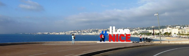 We head out through Nice